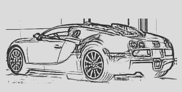 bugatti car veyron electronic coloring pages
