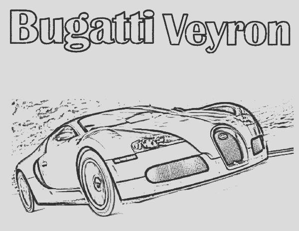 bugatti car veyron on the road coloring pages