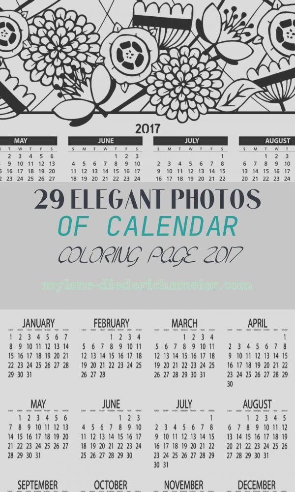 Calendar Coloring Page 2017 Fresh Free Printable 2017 Calendar Coloring Pages