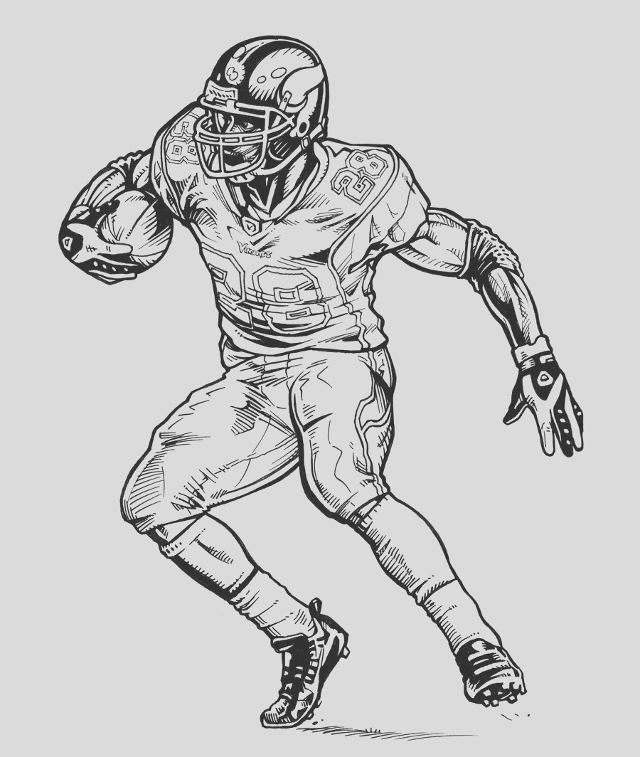 minnesota vikings coloring pages sketch templates