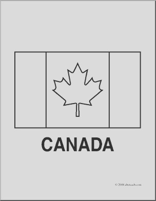 clip art flags canada coloring page