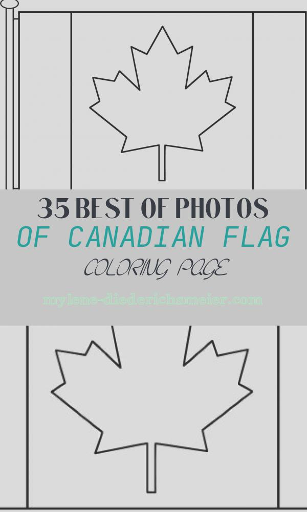Canadian Flag Coloring Page Unique Canadian Flag with Pole Coloring Page Canada Day