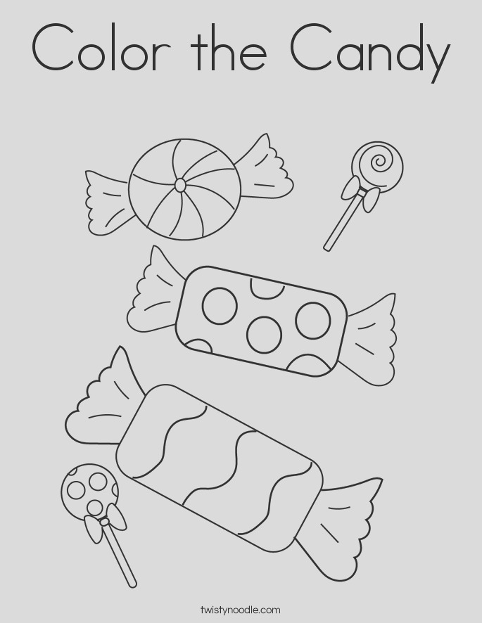 color the candy 8 coloring page