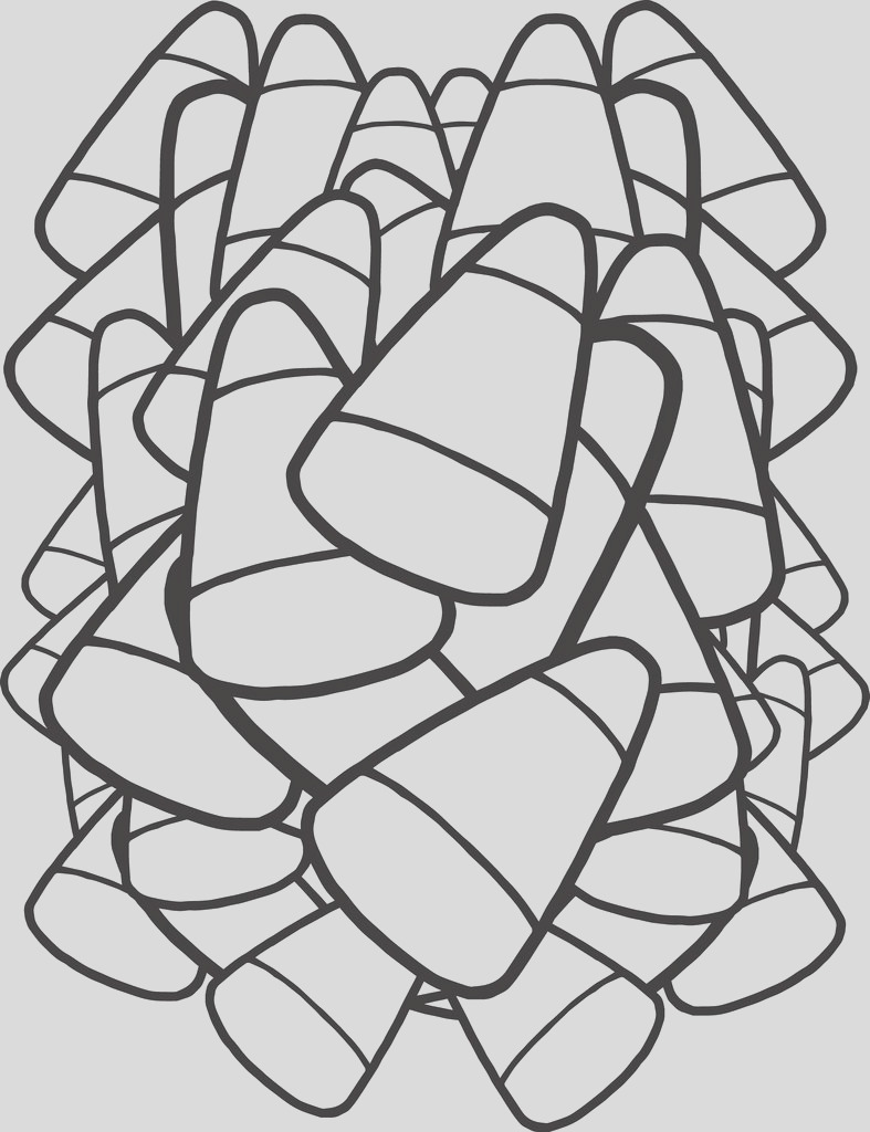 candy corn coloring page a4312