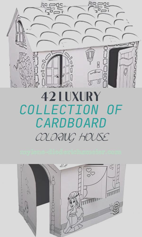 Cardboard Coloring House Awesome Amazon Kids Folding Cardboard Paper House Coloring