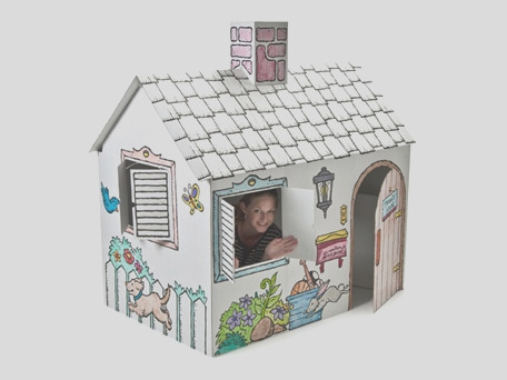 cardboard color me playhouse 20 shipped
