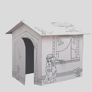 JCPenney Discovery Kids Color Me Cardboard Playhouse customer