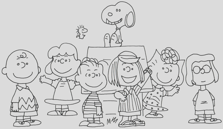 halloween charlie brown coloring pages