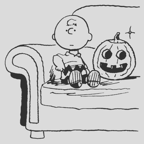charlie brown halloween coloring picture