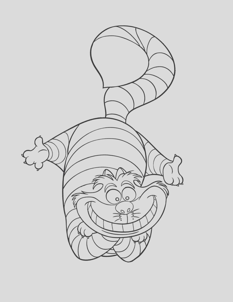 cheshire cat coloring pages for adults sketch templates
