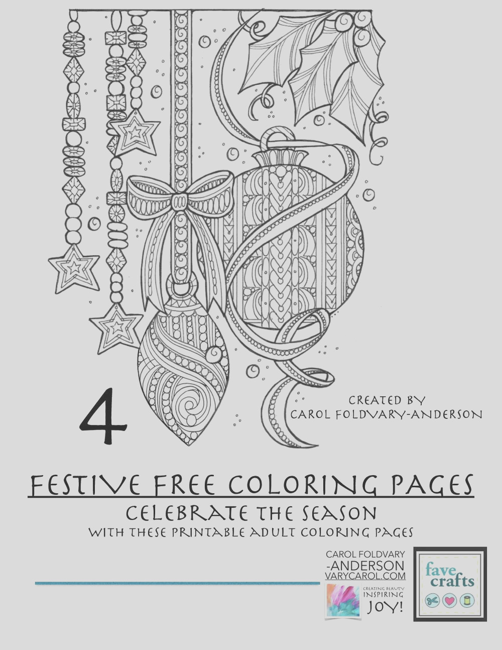 Festive Holiday Coloring Pages for Adults Free eBook