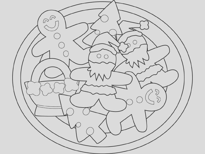 coloring pages of cookies