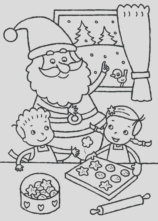 cookie coloring page