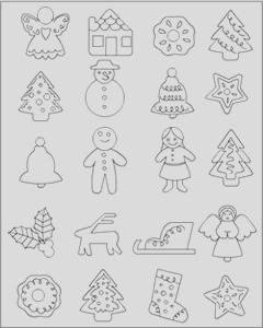 christmas food coloring pages