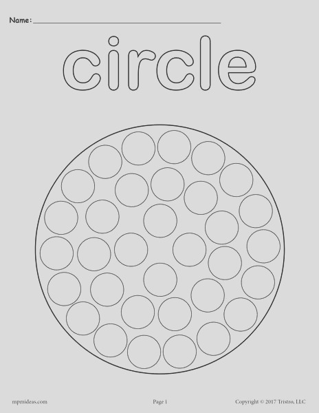 free circle do a dot printable a7632