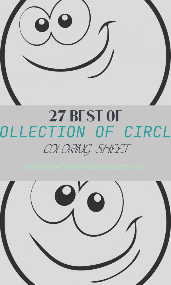 Circle Coloring Sheet Luxury Circle Cartoon Face Coloring Page