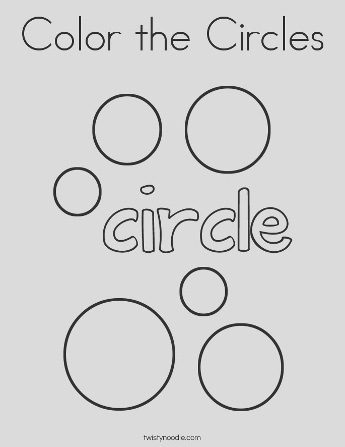 color the circles 5 coloring page