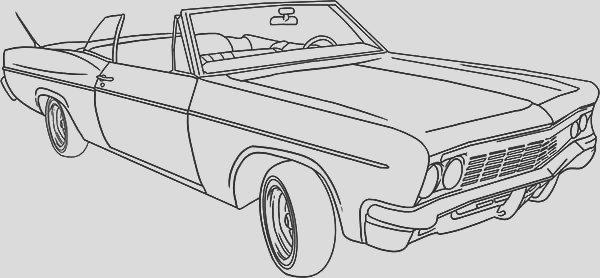 lowrider classic car coloring pages
