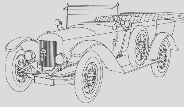 classic car picture coloring pages