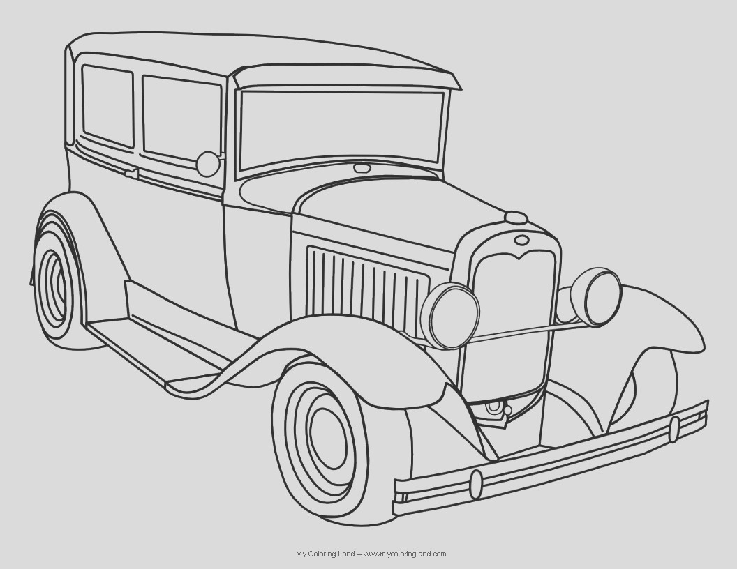 classic car coloring pages