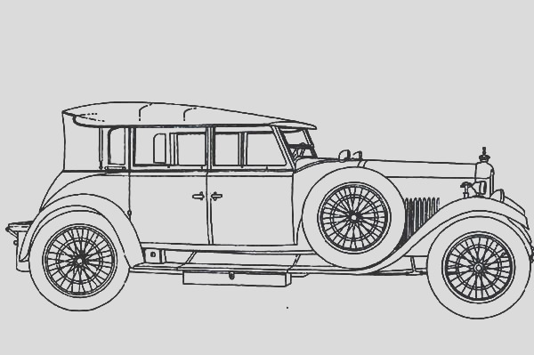 inspiring and memorable design of a classic car coloring pages