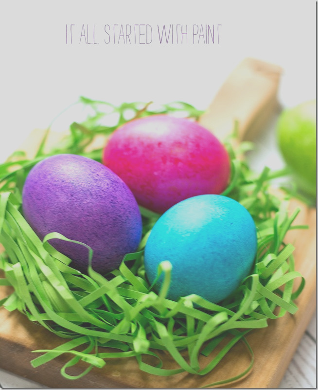 dye easter eggs with rice food coloring