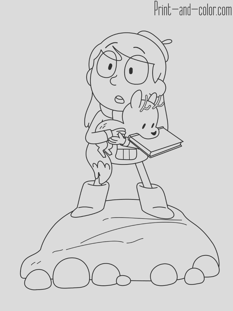 hilda coloring pages