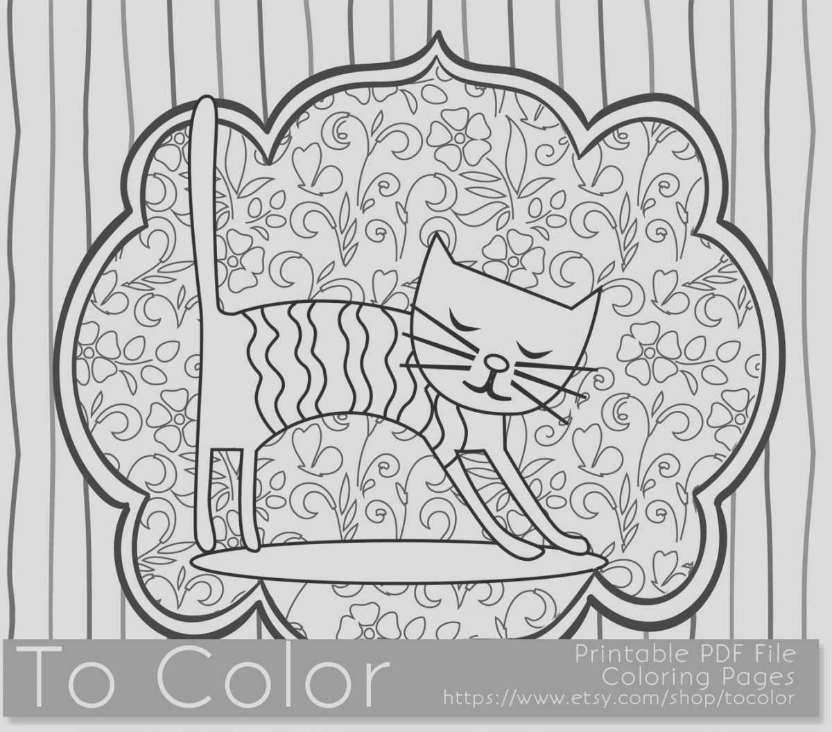 Coloring Book for Adults Cats Elegant Printable Whimsical Cat Coloring Page for Adults Pdf by