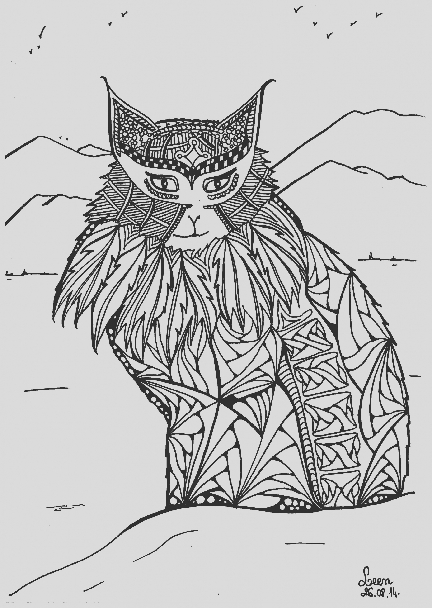 image=cats coloring adult leen margot mountains cat 3
