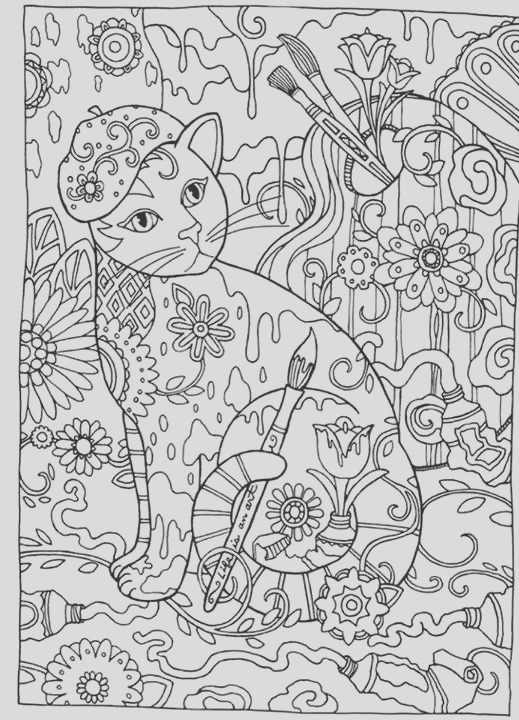 adult coloring pages cats cats cats