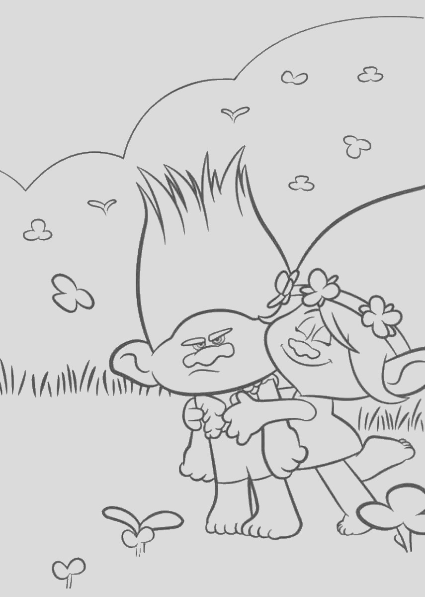 trolls movie coloring pages