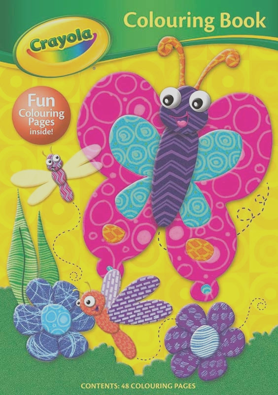 crayola colouring book butterfly wholesale