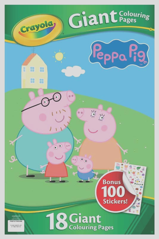 crayola peppa pig giant colouring pages with stickers wholesale