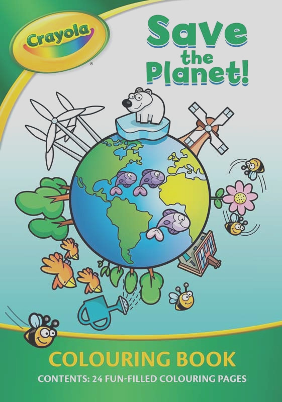 crayola save the planet colouring book wholesale