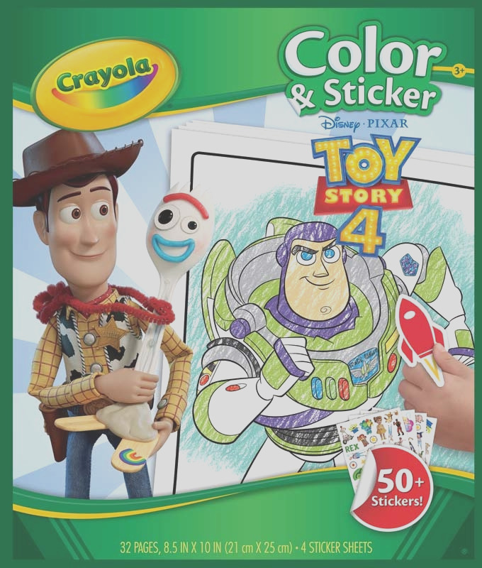 crayola toy story 4 colouring pages with stickers wholesale