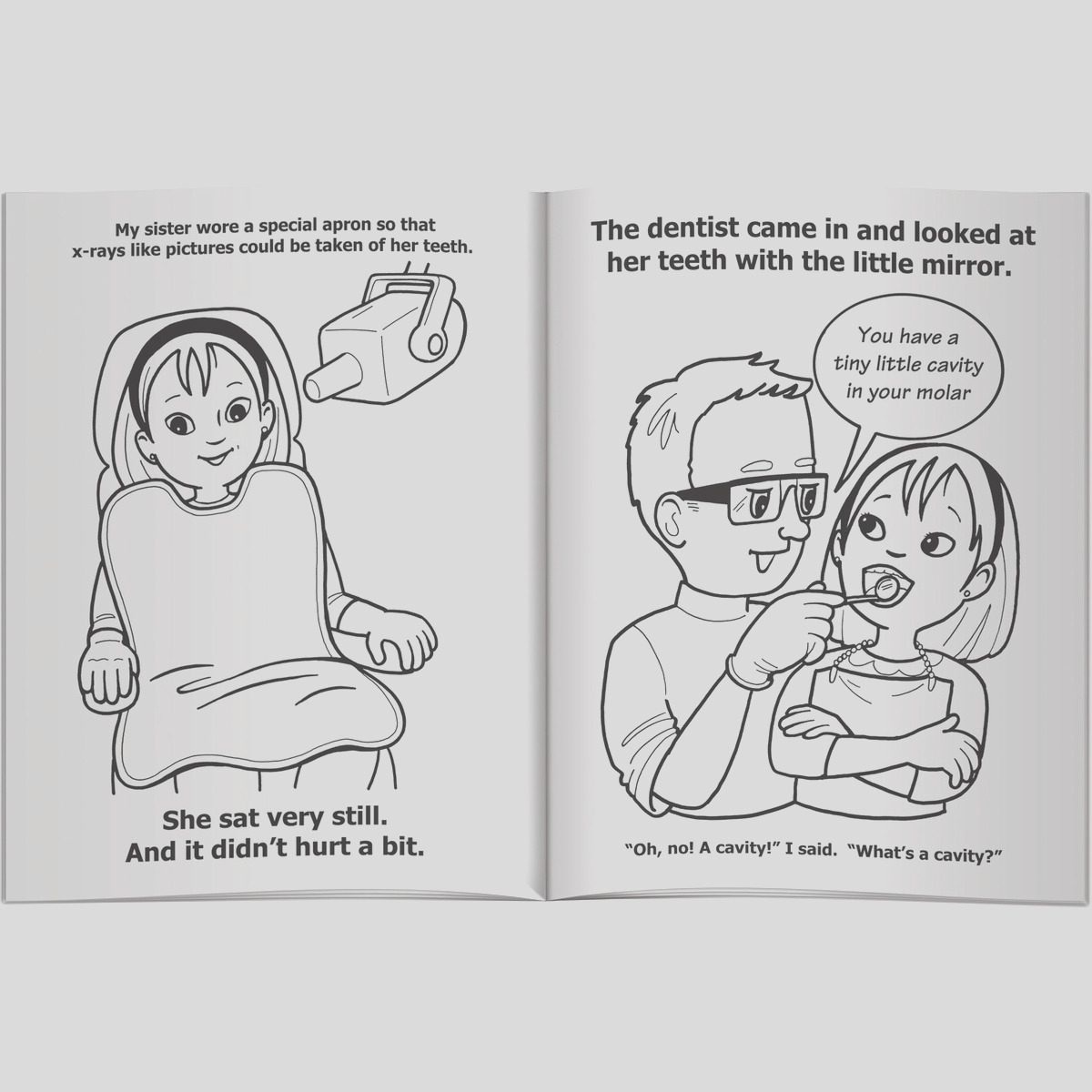 children s coloring book a visit to the dentist a tooth tale