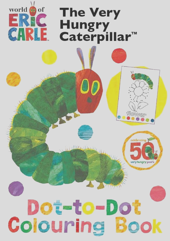 very hungry caterpillar dot to dot colouring book wholesale