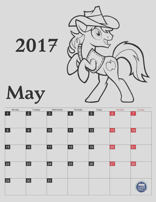 coloring pages calendar 2017 for kids
