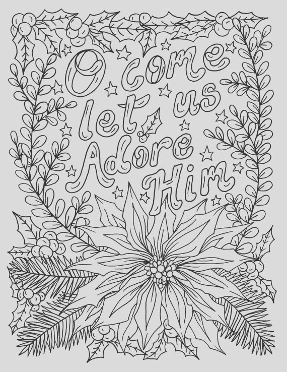 christian christmas coloring page adult