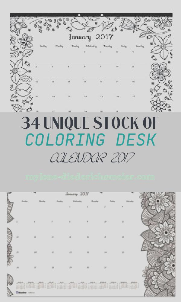 Coloring Desk Calendar 2017 Awesome Amazon Blueline 2017 Monthly Coloring Desk Pad