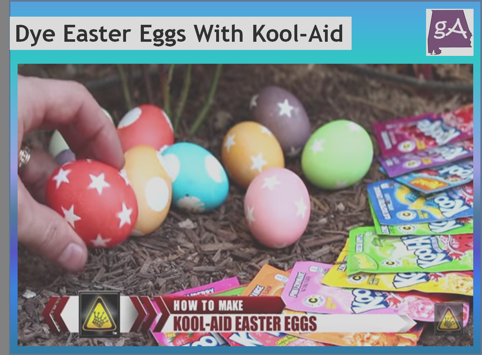 here is how to dye easter eggs with kool aid
