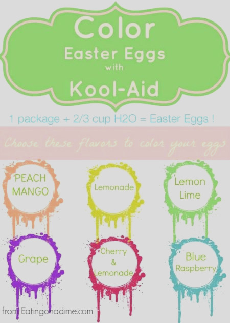 color easter eggs with kool aid