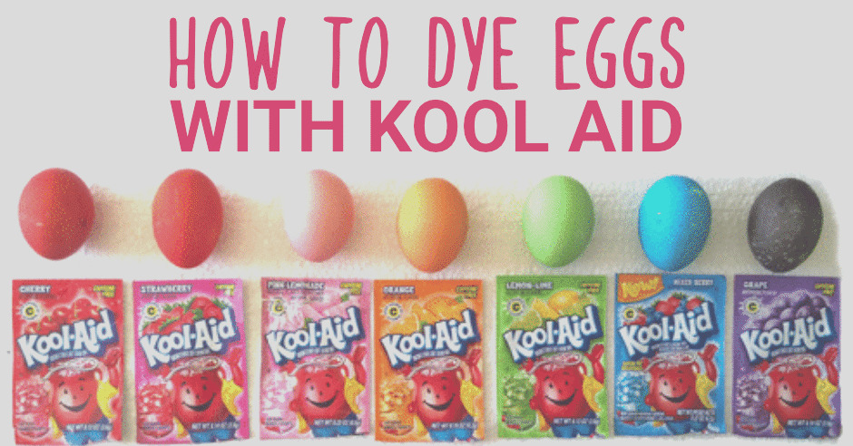 dying easter eggs with kool aid
