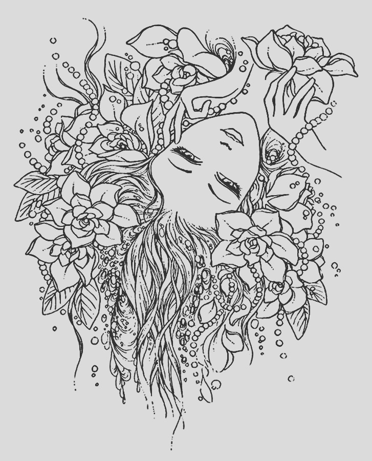anti stress coloring pages girls