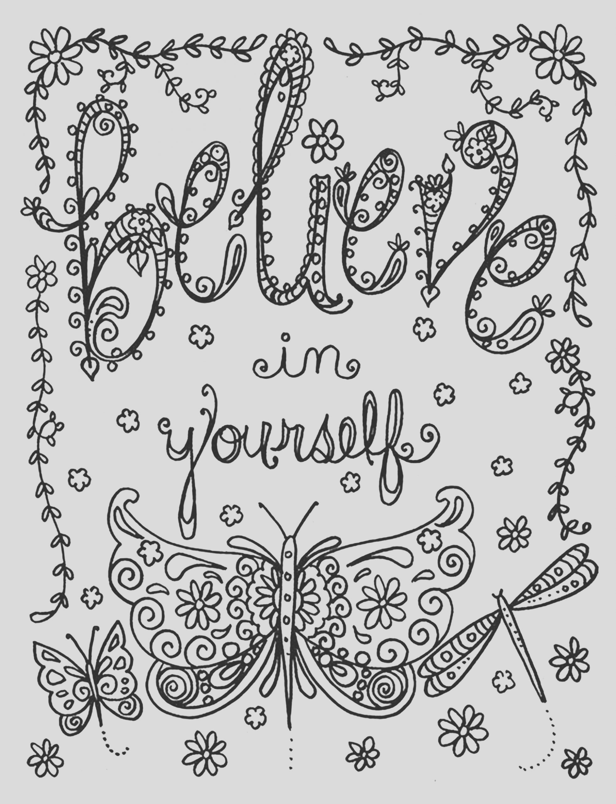 image=anti stress coloring page believe in yourself by deborah muller 1