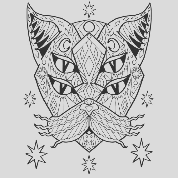 adult coloring pdf cat coloring page