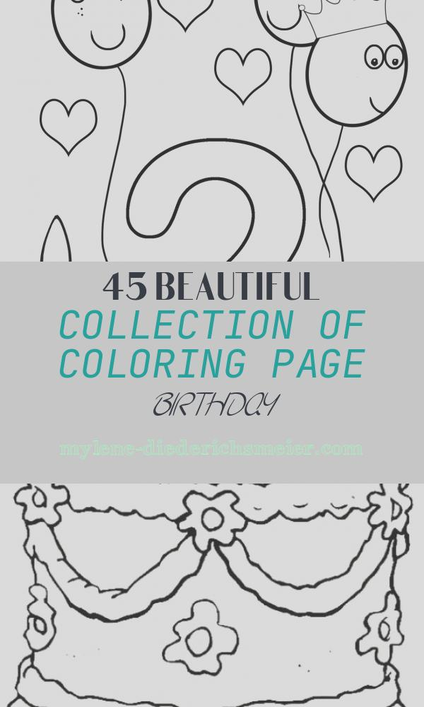 Coloring Page Birthday New Birthday Coloring Pages