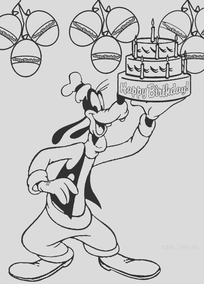 goofy coloring pages