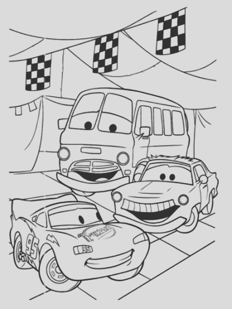 image=cars Coloring for kids cars 1