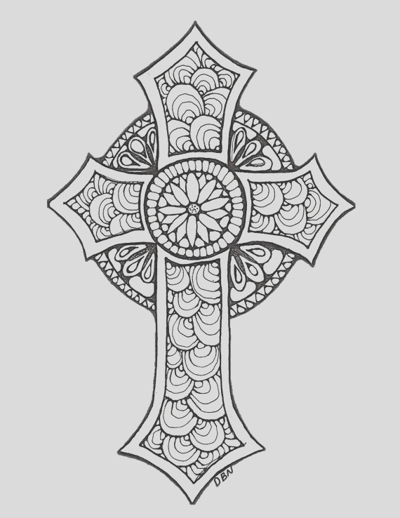 adult colouring pagecross original